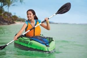 Intex Challenger K1 Kayak on water