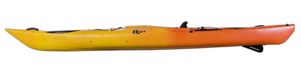 Riot Kayaks Enduro 13 HV Flatwater Day Touring Kayak - side view