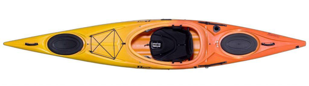 Riot Kayaks Enduro 13 HV Flatwater Day Touring Kayak - top view