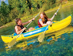 Sevylor Tahiti Classic Inflatable Kayak - on water