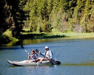 Lifetime Sport Fisher Kayak with 2 riders