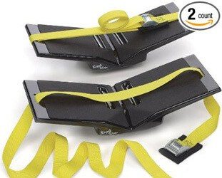 The Kayak Wing – Sea Kayak Rack with Yellow Straps for Boats Under 30″ Wide by Great Lakes Kayak LLC