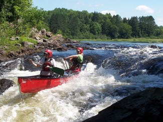 Whitewater on the Mulberry for Kayaking