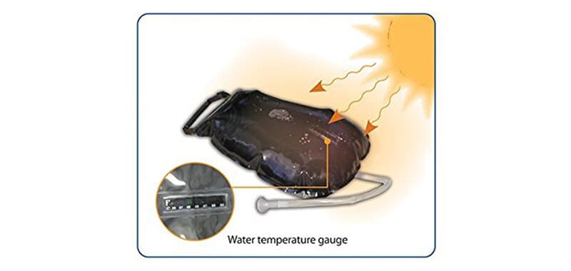 Advanced Elements 5 Gallon Summer Shower- Solar Shower Specifications