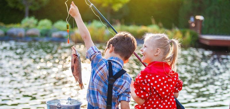 encourage kids to go fishing