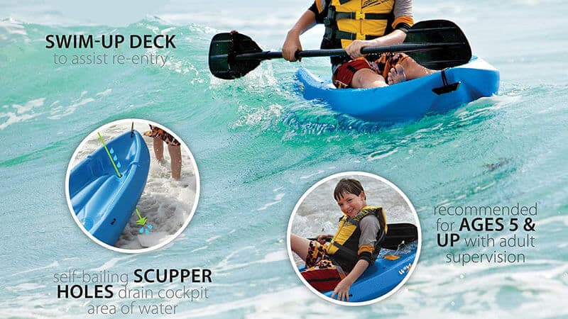 Lifetime Youth Wave Kayak as the Best Kayak for Kids