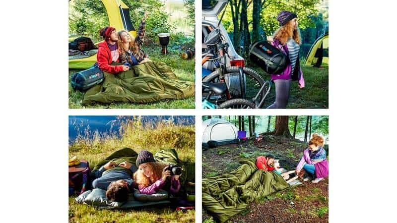 Sleepingo Double Sleeping Bag for Backpacking, Camping, Or Hiking. Queen Size XL! Cold Weather 2 Person Waterproof Sleeping Bag for Adults Or Teens. Technical Specifications