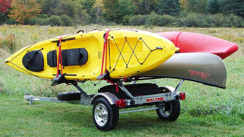 Malone MicroSport Sports Trailer for Kayaks, Canoes and Bikes as Best Trailer Kayak