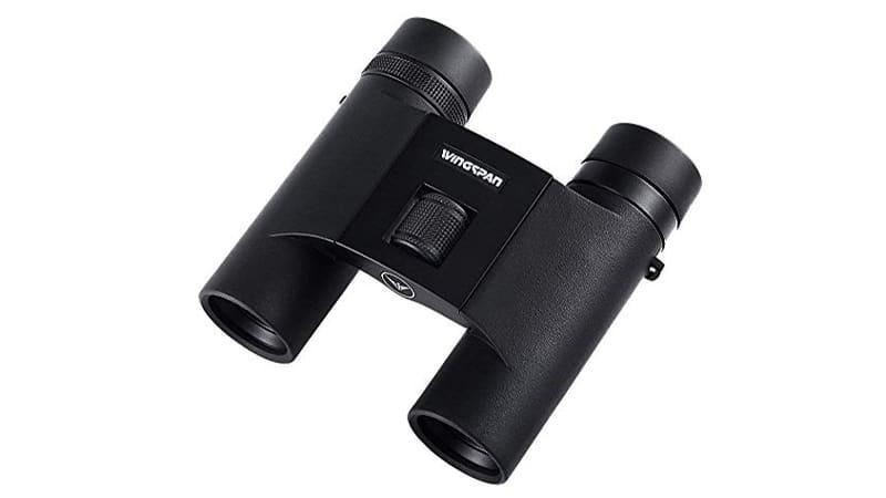 Wingspan Optics Feather ED Lightweight Binoculars - 8x25 Folding Binoculars for Bird Watching w ED Glass, Small Compact 12oz Travel Birding Binoculars w Wide Angle, Waterproof, Adjustable Eyecups