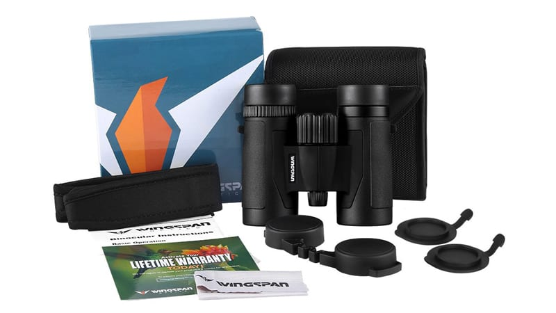 Wingspan Optics Spectator 8X32 Compact Binoculars for Bird Watching. Lightweight and Compact for Hours of Bright, Clear Bird Watching