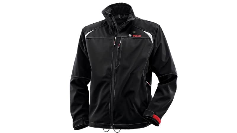 Bosch Men's 12-Volt Max Lithium-Ion Soft Shell Heated Jacket Kit with 2.0Ah Battery, Charger and