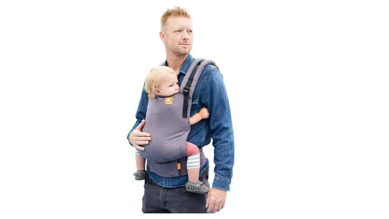 Baby Tula Free-to-Grow Baby Carrier 7 – 45 lb., Adjustable Newborn to Toddler Carrier, Ergonomic Inward Front and Back Carry, Easy-to-Use, Lightweight – Stormy, Gray
