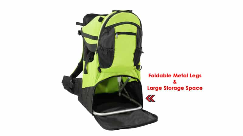 Clevr Premium Cross Country Baby Backpack Hiking Child Carrier with Stand and Sun Shade Visor Kid Toddler for Best Baby Carrier for Hiking