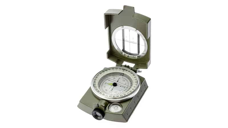 SE CC4580 Military Lensatic and Prismatic Sighting Survival Emergency Compass with Pouch
