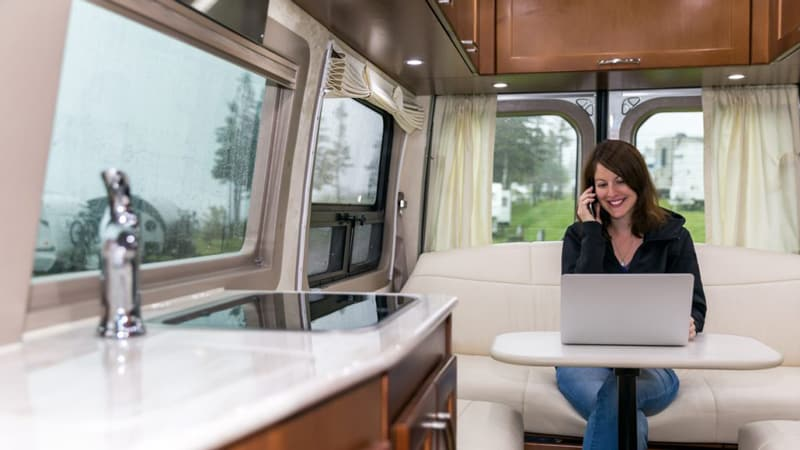Online Work from an RV