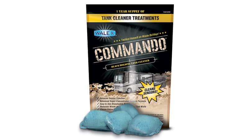 Walex CMDOBG Commando Black Holding Tank Cleaner Drop-Ins, Ocean Mist Scent (1 Year Supply)