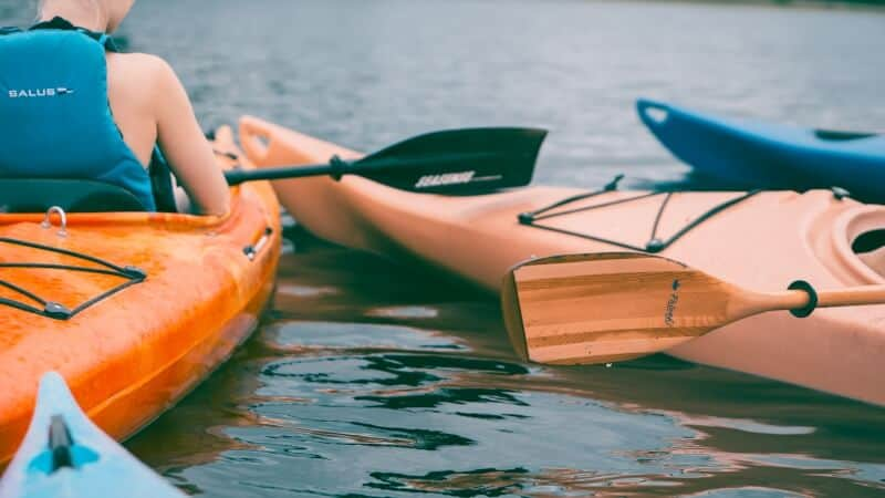 Two Kayaks in the Water