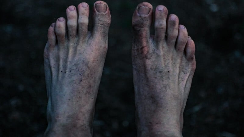 Feet with dirt