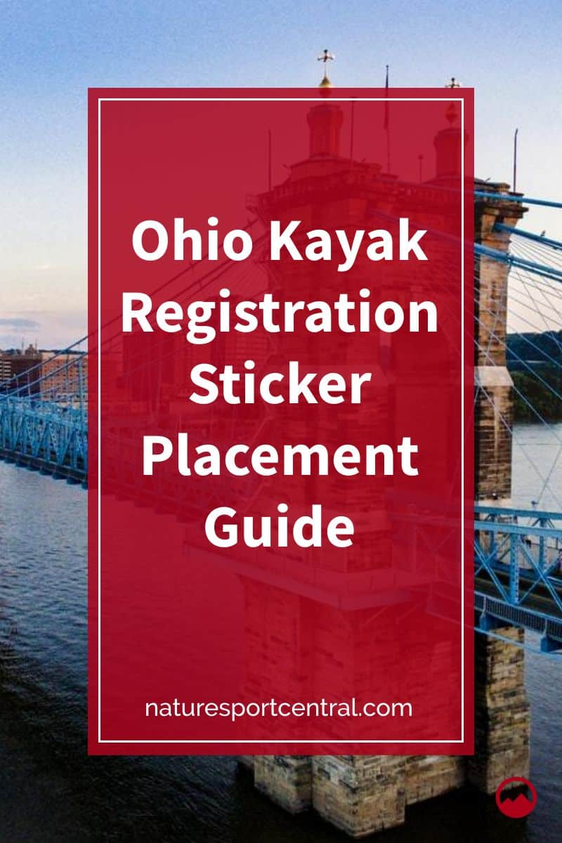 Ohio Kayak Registration Sticker Placement Guide