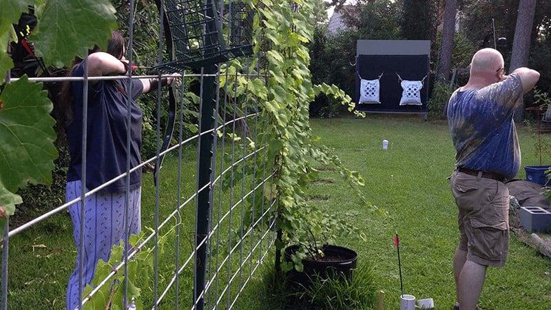 Backyard Archery Practice