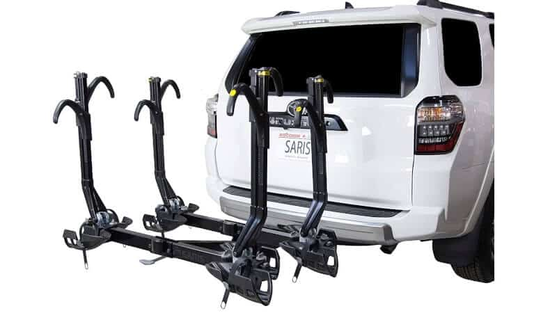 Saris Superclamp Bike Hitch Car or Truck Rack, Mount Bicycles, Plus Cargo and Hd or Rv Compatible Option, Hatch Access, Easy Fold, Integrated Locks and Reflectors
