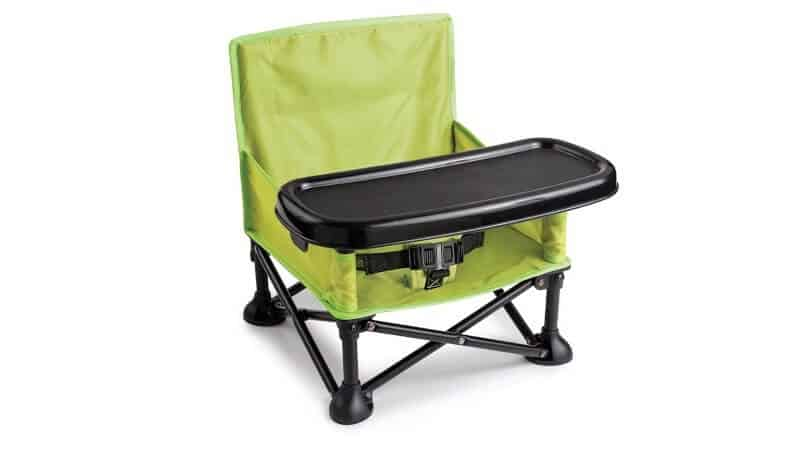 Summer Pop 'n Sit Booster Seat, Green – Booster Chair for Indoor and Outdoor Use – Fast, Easy and Compact Fold, Can be Used as a Portable High-chair – For 6 months to 4 years