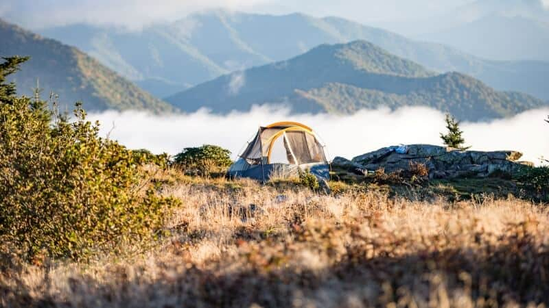 Tent on the mountains