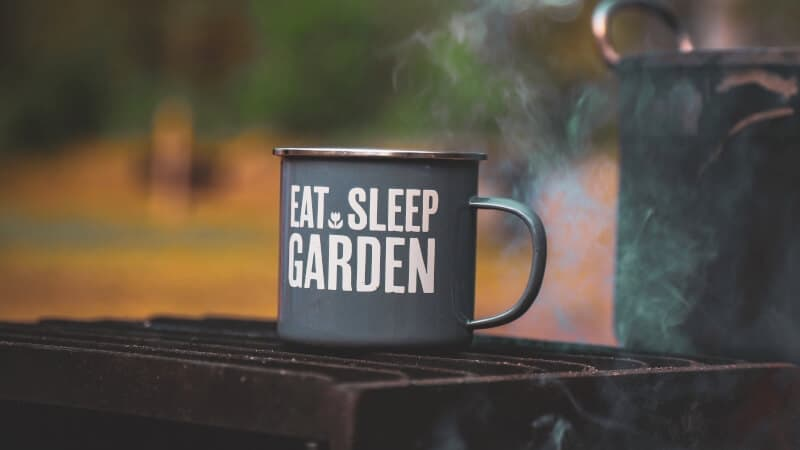 Eat Sleep Garden cup