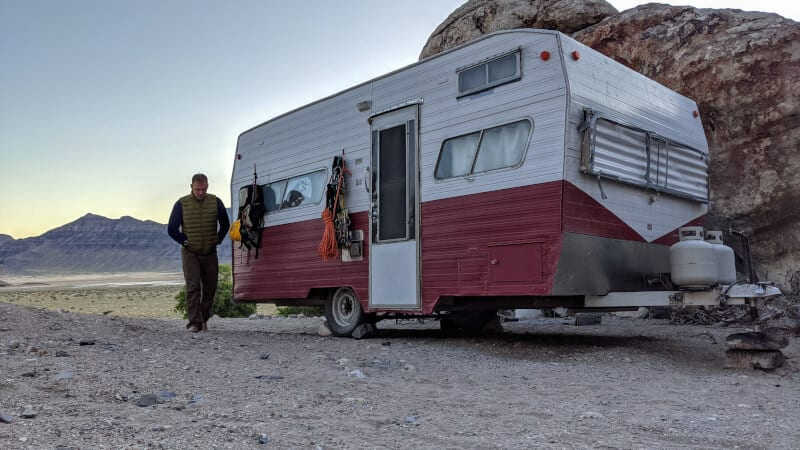 man and rv