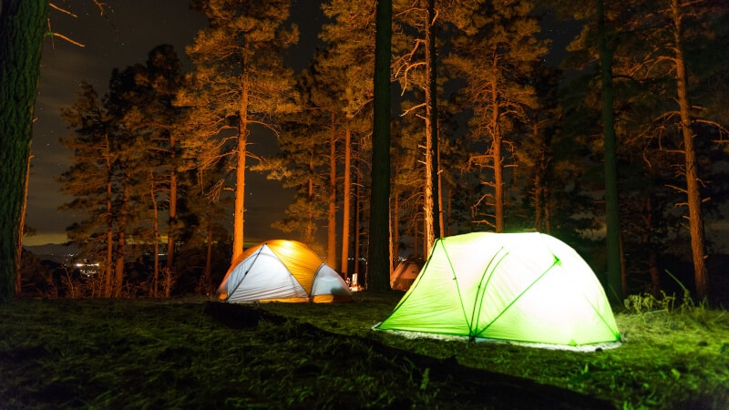 tents and lights