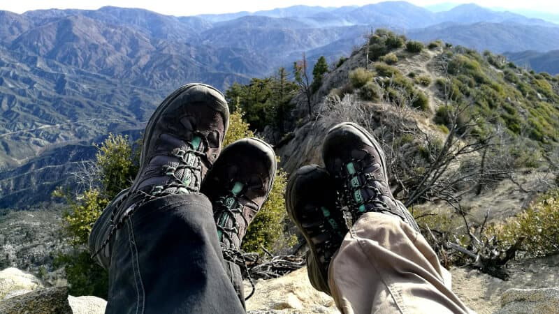 couple of foot on a mountain