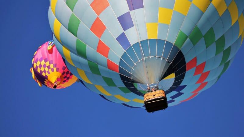 closed up hot air balloon