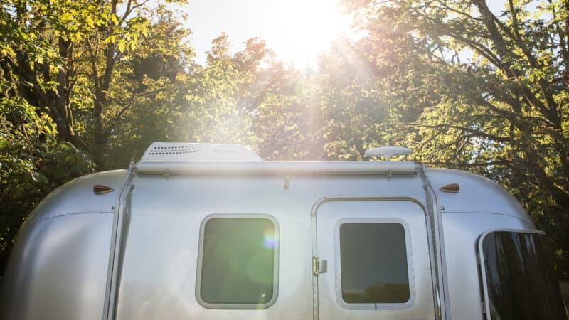 rv trailer under the sun