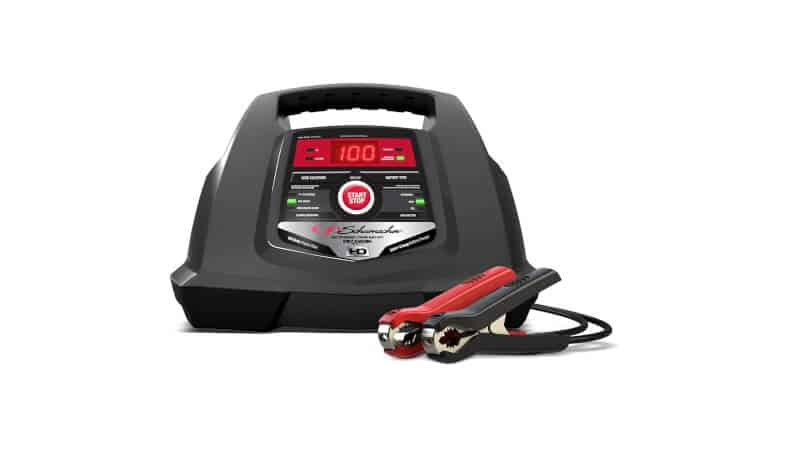 Schumacher SC1281 100 Amp 30 Amp 6V 12V Fully Automatic Smart Battery Charger 100A Engine Starter and 30A Boost Maintainer and Auto Desulfator Advanced Diagnostic Testing