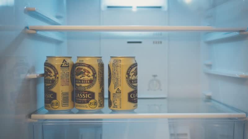 refrigerator with beer