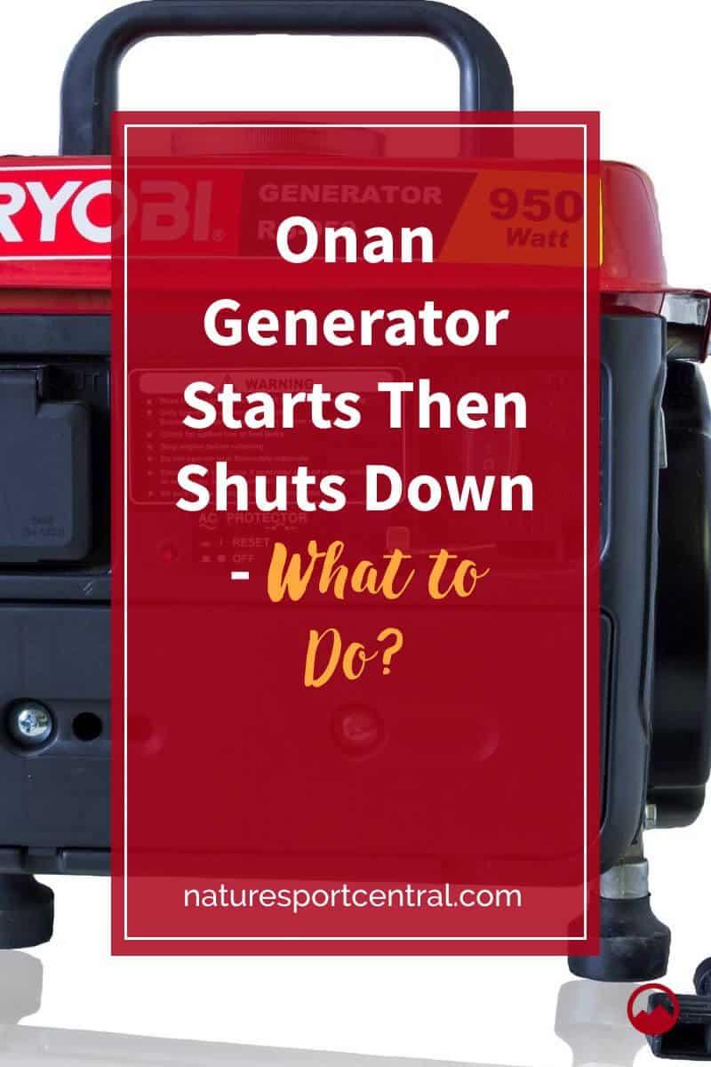 Onan Generator Starts Then Shuts Down - What to Do (2)
