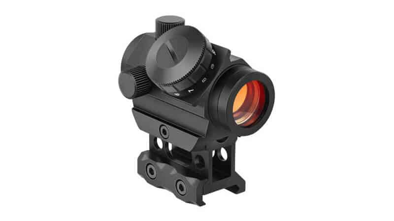 MidTen 2MOA Micro Red Dot Sight 1x25mm Reflex Sight Waterproof & Shockproof & Fog-Proof Red Dot Scope, Mini Rifle Scope with 1 inch Riser Mount