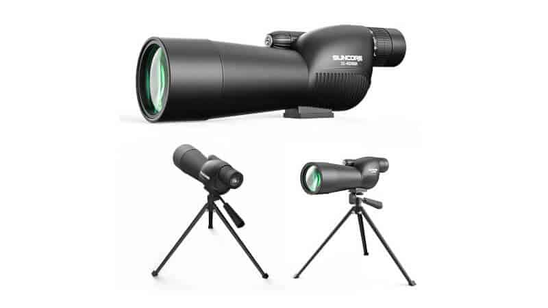 Suncore HD Zoom Spotting Scope - Standard 15-45x60 Waterproof Fully Multi-Coated Optical Lens, Movably Eyepiece Monocular for Target Shooting Hunting Stargazing Bird Watching Wildlife Scenery