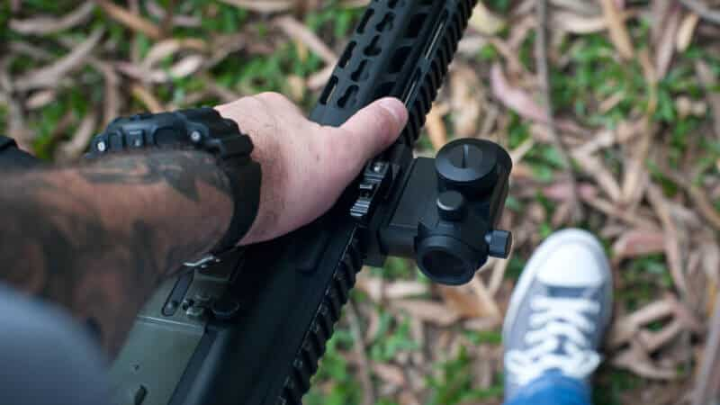 black rifle scope
