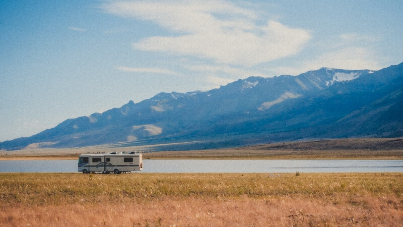 rv and mountain