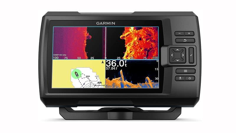 Garmin Striker Vivid 7sv, Easy-to-Use 7-inch Color Fishfinder, and Sonar Transducer, Vivid Scanning Sonar Color Palettes