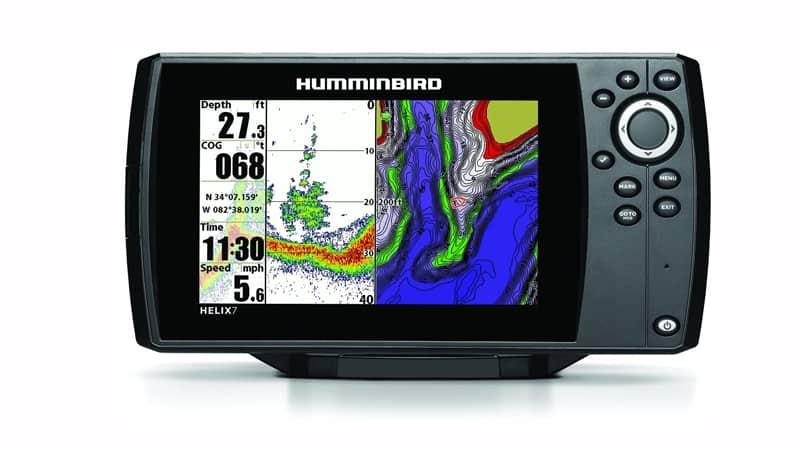 Humminbird 409820-1 Helix 7 Fishfinder-GPS with Dual Beam Plus Sonar